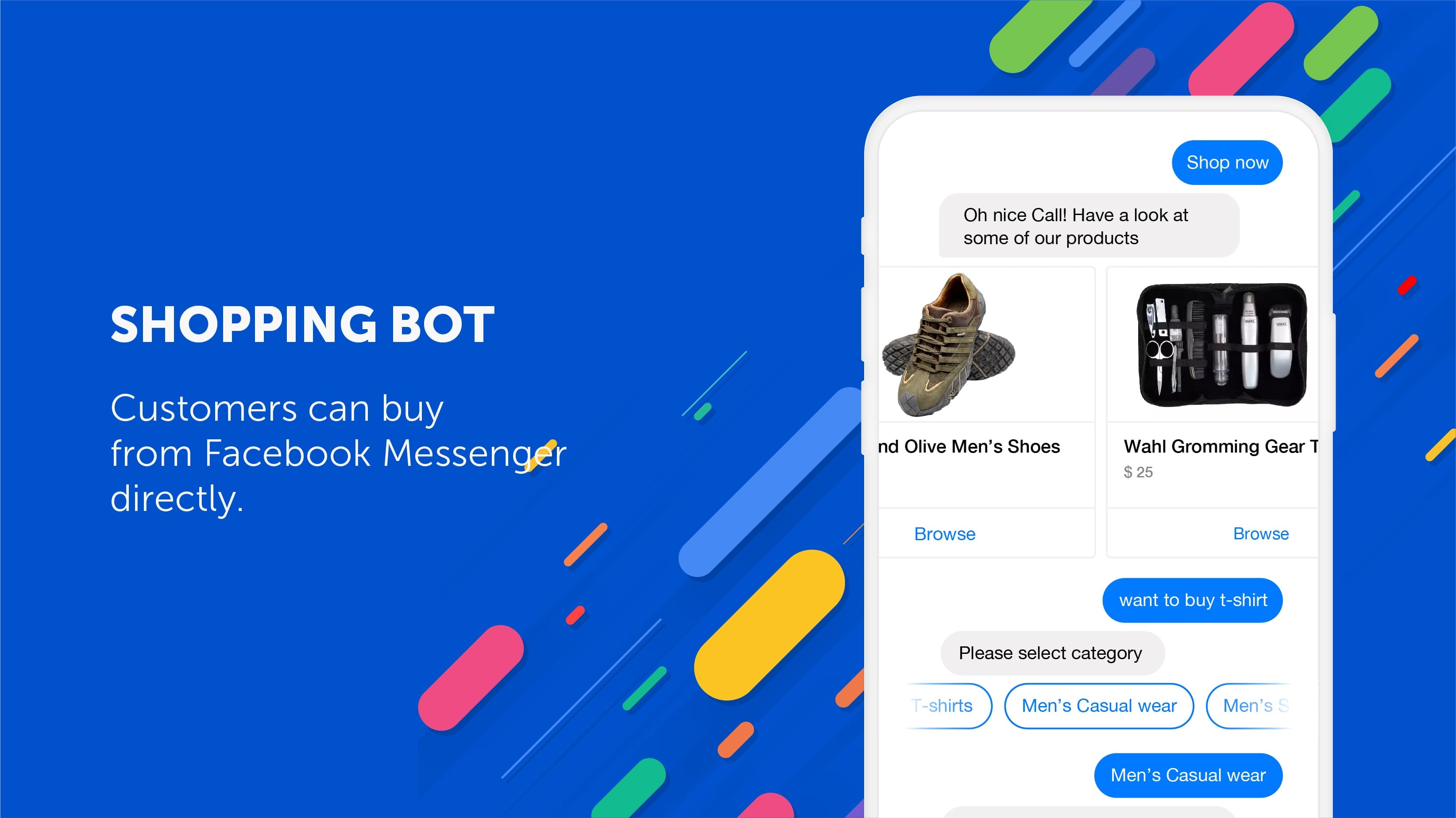 Types of Chatbots - shopping bot